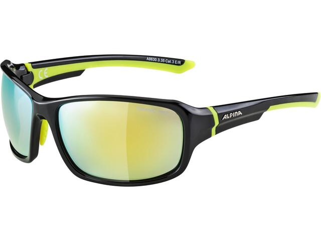 Alpina Lyron Occhiali, black-neon yellow